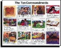 Wall Chart: Ten Commandments (Laminated) (Niv)