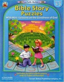 Bible Story Puzzles (Reproducible; Grades 1-3) (Fun Faith-builders Series)