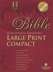 HCSB Compact Blue (Red Letter Edition) (Large Print)