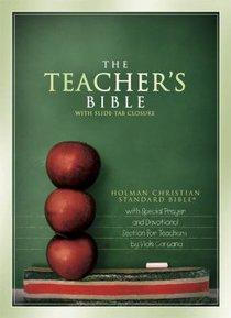 HCSB Teachers Bible With Slide-Tab Closure