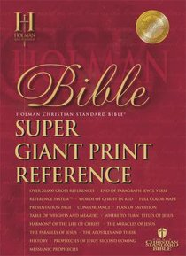 HCSB Super Giant Print Reference Black (Red Letter Edition)