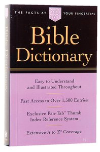 Bible Dictionary (Nelson Pocket Reference Series)