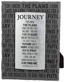 Black and Silver Layered Plaque: Journey, Jeremiah 29:11-13