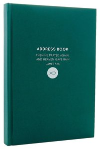 Address Book: Moleskin Style Green Fish