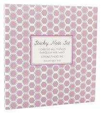 Sticky Note Sets: Purple Honeycomb Pattern