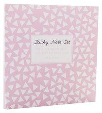 Sticky Note Sets: Pale Pink Triangle Pattern