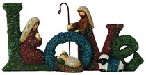 Knitted Nativity Word Love, Coloured