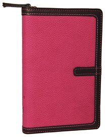 NIV Compact Thinline Bible Zippered Orchid/Chocolate Duo-Tone (Red Letter Edition)