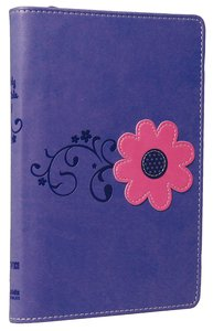 NIV Backpack Zipper Bible Pretty Purple Duo-Tone (Red Letter Edition)
