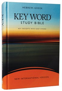 NIV Hebrew-Greek Key Word Study Bible Wide Margin