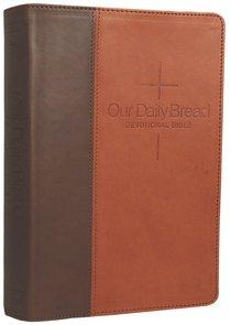 NLT Our Daily Bread Devotional Bible Brown Tan Tutone (Black Letter Edition)