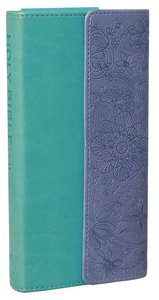 NIV Diary Bible Turquoise Purple With Clasp