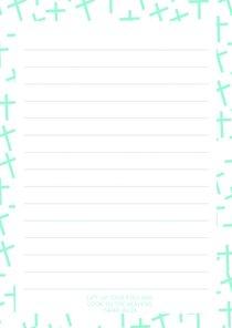 Notepad: Blue Cross Pattern (70 Sheets)
