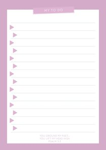 To Do Notepad: Pale Pink Triangle Pattern, Fridge Magnet Attached (70 Sheets)