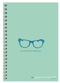 Boys Adventure A5 Spiral Notepads: Be Strong and Courageous
