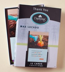 Boxed Cards Thank You: Max Lucado