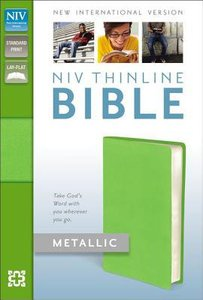 NIV Thinline Metallic Collection Bible Green (Red Letter Edition)