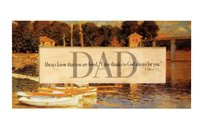 Easeled Magnet: Dad Always Know That You Are Loved