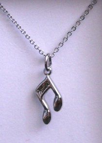 Praise Necklace - Silver Music Note