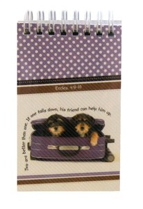 Notepad: Cute Animal Sitting in Purple Suitcase, With Scripture