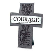 Cross Cast Stone: Courage: Badge of Faith