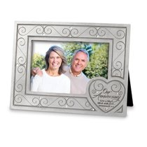 Photo Frame With Heart Cast Stone: Live a Life of Love