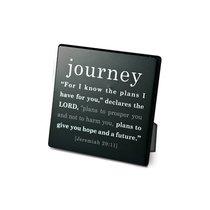 Simple Faith Plaque: Journey, Jeremiah 29:11 (Black/white)