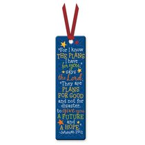 Bookmark With Ribbon: Colorful Graduate Jeremiah 29:11 (Blue)