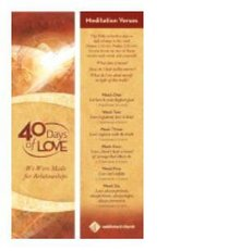 40 Days of Love: Bookmark (Pack 24)