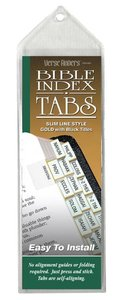 Bible Tabs Verse Finders Gold (Slim Line)