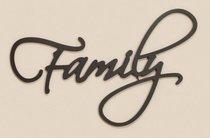 Word Plaque: Family, Black, Mdf