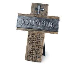 Cross: John 3:16 (Polyresin)