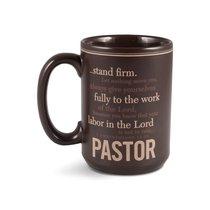 Mug: Pastor 1 Corinthians 15:58, Matte Burgundy