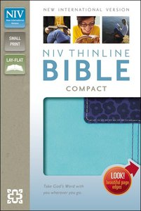 NIV Thinline Compact Bible Italian Duo-Tone Turquoise/Blueberry (Red Letter Edition)