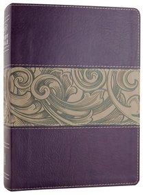 NKJV Holman Study Bible Eggplant/Tan (Full Colour)
