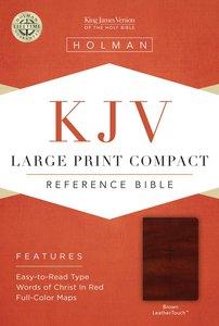 KJV Large Print Compact Reference Brown Bible