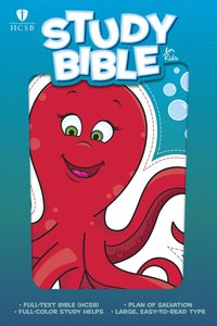 HCSB Study Bible For Kids Octopus