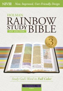 NIV Rainbow Study Bible Purple Indexed