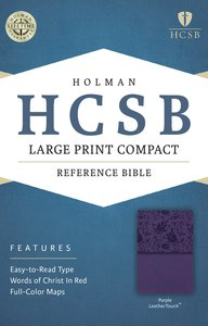 HCSB Large Print Compact Bible Purple