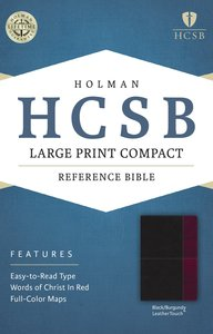 HCSB Large Print Compact Bible Black/Burgundy