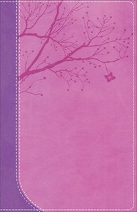 NKJV God Girl Bible Pretty Purple/Berry Pink Duravella (Red Letter Edition)