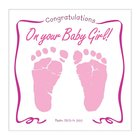 Baby Girl Greeting Card With CD