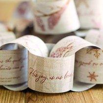 Christmas Snow Birds Paper Garland (Isaiah 30:15 Niv)