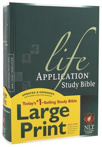 NLT Life Application Study Bible Large Print (Red Letter Edition)