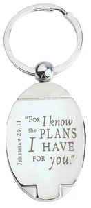 Quality Metal Keyring: Jeremiah 29:11, For I Know the Plans I Have For You