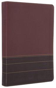 NIV Single-Column Reference Bible Burgundy Black Letter