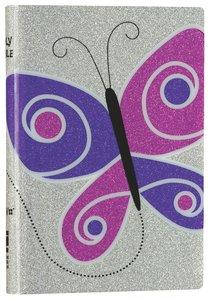 NIV Glitter Bible Purple Butterfly (Red Letter Edition)