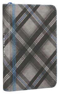 NLT Zips Bible Canvas With Blue Zipper (Black Letter Edition)