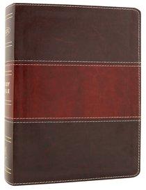 NKJV Holman Study Bible Mahogany (Full Colour)