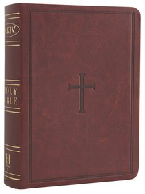 NKJV Large Print Compact Reference Bible Brown Leathertouch (Red Letter Edition)